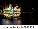 the large offshore oil rig at... | Shutterstock . vector #166812494