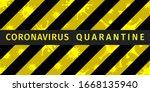 coronavirus quarantine poster.... | Shutterstock .eps vector #1668135940