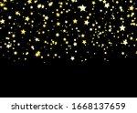 Gold Star Vector. Shine...