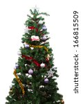 christmas tree with colorful... | Shutterstock . vector #166815509