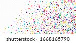 rainbow confetti hipster vector ... | Shutterstock .eps vector #1668165790