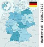 blue green detailed map of...   Shutterstock .eps vector #1668173626