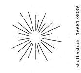vintage burst light rays vector ... | Shutterstock .eps vector #1668178039