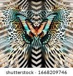 Butterfly  Geometric Pattern ...