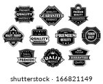 labels set in vintage western... | Shutterstock .eps vector #166821149