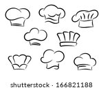 chef and cook hats set isolated ... | Shutterstock .eps vector #166821188