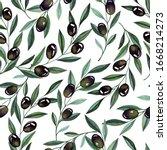 watercolor seamless pattern...   Shutterstock . vector #1668214273