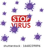 forbidden sign with virus... | Shutterstock .eps vector #1668239896