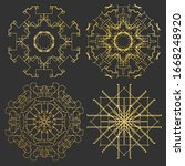 ornament gold card with mandala.... | Shutterstock .eps vector #1668248920