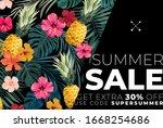 dark vector summer design with... | Shutterstock .eps vector #1668254686