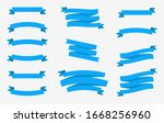 banner vector icon set blue... | Shutterstock .eps vector #1668256960