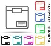 box multi color style icon....
