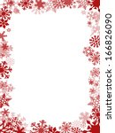 red christmas card frame and... | Shutterstock . vector #166826090