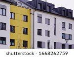 Facade Of Windows In Attic Or...