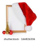 Christmas Hat Hung On Old Fram...
