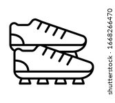 cleats  football icon. simple...