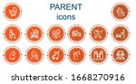editable 14 parent icons for... | Shutterstock .eps vector #1668270916