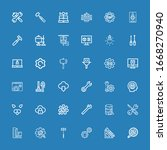editable 36 settings icons for... | Shutterstock .eps vector #1668270940
