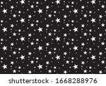 seamless star pattern. stars... | Shutterstock .eps vector #1668288976