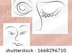 contemporary abstract man face... | Shutterstock .eps vector #1668296710