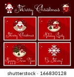 vector set of christmas... | Shutterstock .eps vector #166830128