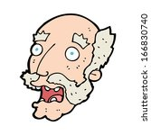 cartoon shocked old man | Shutterstock .eps vector #166830740