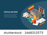 textile industry manufacturing... | Shutterstock .eps vector #1668313573