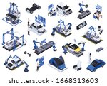 electric vehicles production ... | Shutterstock .eps vector #1668313603
