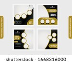 social media marketing post... | Shutterstock .eps vector #1668316000