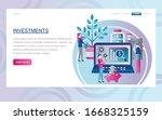 concept for website development ... | Shutterstock .eps vector #1668325159
