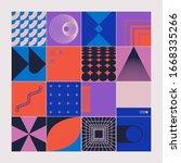 retro future inspired artwork... | Shutterstock .eps vector #1668335266
