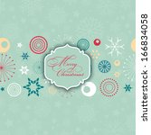 retro styled decorative... | Shutterstock .eps vector #166834058