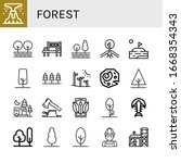 forest icon set. collection of...   Shutterstock .eps vector #1668354343