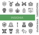 set of insignia icons. such as... | Shutterstock .eps vector #1668354586