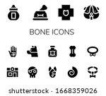 bone icon set. 14 filled bone...   Shutterstock .eps vector #1668359026