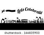 Silhouette Of People Parade ...