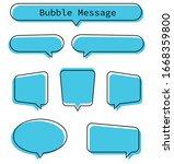 blue speech bubbles. set...   Shutterstock .eps vector #1668359800