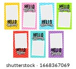 hello 7 days of the week with...   Shutterstock .eps vector #1668367069