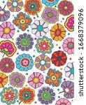 hippie psychedelic art style...   Shutterstock .eps vector #1668379096
