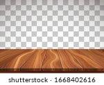 textured wooden floor isolated... | Shutterstock .eps vector #1668402616