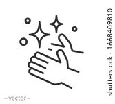 clean shiny hands icon  care... | Shutterstock .eps vector #1668409810
