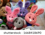 Knitted Colored Bunnies...