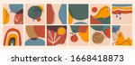 big set of abstract backgrounds.... | Shutterstock .eps vector #1668418873
