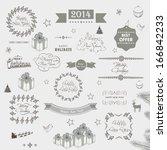 calligraphic and typographic... | Shutterstock .eps vector #166842233