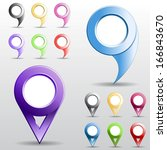set of multicolored circle... | Shutterstock .eps vector #166843670