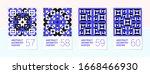 set of 4 scandinavian style... | Shutterstock .eps vector #1668466930