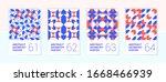 set of 4 scandinavian style... | Shutterstock .eps vector #1668466939