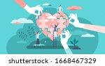 wellness concept. flat tiny... | Shutterstock .eps vector #1668467329