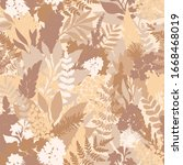 wild flower pastel seamless... | Shutterstock .eps vector #1668468019