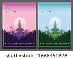 happy bali's day of silence and ... | Shutterstock .eps vector #1668491929